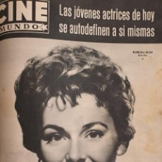 Cine: REVISTA CINE MUNDO 1958 BARBARA RUSCH MYLENE DEMONGEOT JAMES DEAN JUDY GARLAND FRANCES NUYEN. Lote 194914543