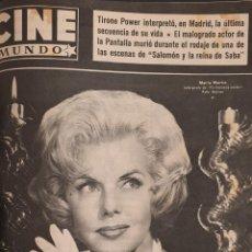 Cine: REVISTA CINE MUNDO 1958 MUERE TYRONE POWER MARIA MARTIN TAB HUNTER. Lote 194916881