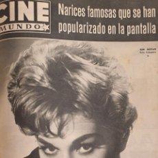 Cine: REVISTA CINE MUNDO 1958 KIM NOVAK BETH ROGAN GIULIETTA MASINA GARY C0OPÈR LA VENGANZA. Lote 194917170
