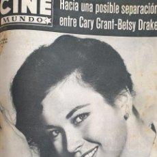 Cine: REVISTA CINE MUNDO 1958 GIA SCALA CARY GRANT SOPHIA LOREN BRIGITTE BARDOT CONTRAPORTADA TAB HUNTER. Lote 194917346