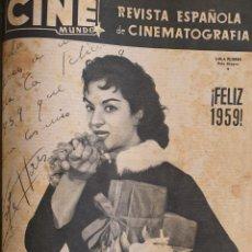Cine: REVISTA CINE MUNDO 1958 LOLA FLORES MARILYN MONROE TONY CURTIS ABBE LANE JENNIFER JONES SANDRA DEE. Lote 194918426
