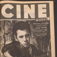 Cine: REVISTA CINE MUNDO 1956 BETSY BLAIR JOSE SUAREZ JAMES DEAN ABBE LANE CALLE MAYOR MARIANNE COCK . Lote 194950331