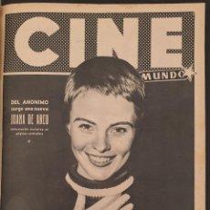 Cine: REVISTA CINE MUNDO 1956 JEAN SEBERG CARMEN SEVILLA JORGE MISTRAL ROMY SCHNEIDER LEIGH SNOWDEN. Lote 194950615