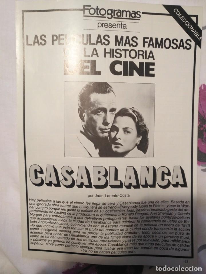 Cine: REVISTA DE CINE FOTOGRAMAS COLECCIONABLES 59 FASCICULOS LAS MEJORES PELICULAS-LAS PELI. MAS FAMOSAS - Foto 11 - 194956412