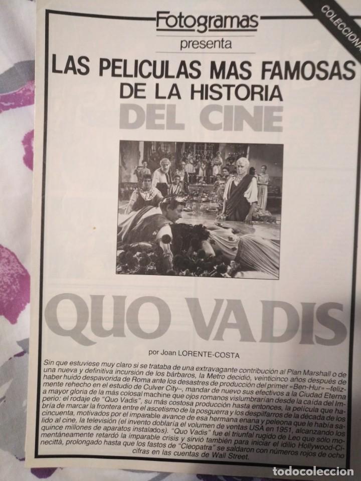 Cine: REVISTA DE CINE FOTOGRAMAS COLECCIONABLES 59 FASCICULOS LAS MEJORES PELICULAS-LAS PELI. MAS FAMOSAS - Foto 48 - 194956412