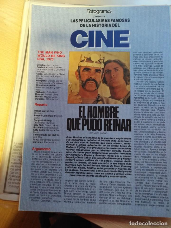 Cine: REVISTA DE CINE FOTOGRAMAS COLECCIONABLES 59 FASCICULOS LAS MEJORES PELICULAS-LAS PELI. MAS FAMOSAS - Foto 57 - 194956412