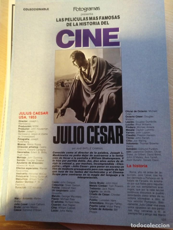 Cine: REVISTA DE CINE FOTOGRAMAS COLECCIONABLES 59 FASCICULOS LAS MEJORES PELICULAS-LAS PELI. MAS FAMOSAS - Foto 60 - 194956412