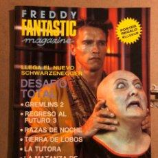 Cinema: FREDDY FANTASTIC MAGAZINE N° 1. DESAFIO TOTAL, REGRESO AL FUTURO, GREMLINS 2, LA MATANZA DE TEXAS. Lote 194969806