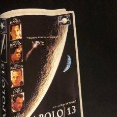 Cine: PUBLICIDAD DE REVISTA DE VHS DE 'APOLO 13'. ORIGINAL AÑO 1996. TAMAÑO FOLIO. ENMARCABLE.. Lote 195047766
