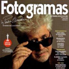 Cine: FOTOGRAMAS N. 2105 MARZO 2019 - EN PORTADA: PEDRO ALMODOVAR (NUEVA). Lote 195112525