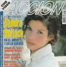 Cinema: REVISTA CINE Y VIDIO ACCION PORTADA SANDRA BULLOCK 16 PROGRAMA DE CINE (SIN PORTERS). Lote 195137058