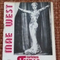 Cine: CARTELERA TURIA Nº 636 - 1976 - MAE WEST. Lote 195162755