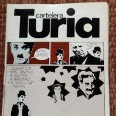 Cine: CARTELERA TURIA Nº 727 - 1978 - CHARLES CHAPLIN. Lote 195162955