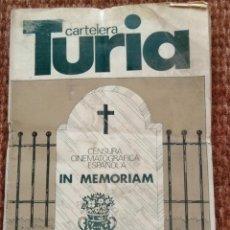 Cine: CARTELERA TURIA Nº 726 - 1978. Lote 195162991