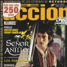Cine: REVISTA CINE Y VIDIO ACCION PORTADA EL SEÑOR DE LOS ANILLOS 24 PROGRAMA DE CINE (SIN PORTERS). Lote 195196991