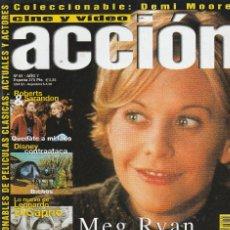 Cine: REVISTA CINE Y VIDIO ACCION PORTADA MEG RYAN 20 PROGRAMA DE CINE (SIN PORTERS). Lote 195224460