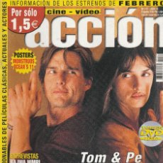 Cine: REVISTA CINE Y VIDIO ACCION PORTADA TOM CRUISE 24 PROGRAMA DE CINE (SIN PORTERS). Lote 195225361
