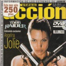 Cine: REVISTA CINE Y VIDIO ACCION PORTADA ANGELINA JOLIE 20 PROGRAMA DE CINE (SIN PORTERS). Lote 195226388