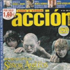 Cine: REVISTA CINE Y VIDIO ACCION PORTADA EL SEÑOR DE LOS ANILLOS 24 PROGRAMA DE CINE (SIN PORTERS). Lote 195227876