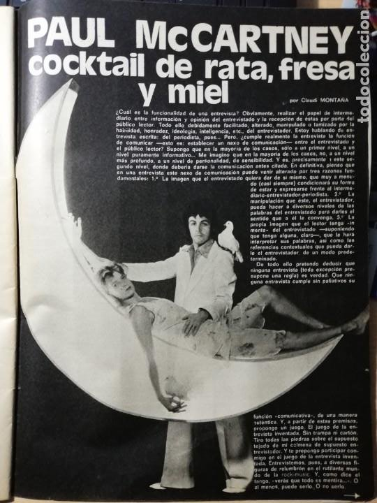 PAUL MCCARTNEY. THE BEATLES. REVISTA COMPLETA (Cine - Revistas - Fotogramas)