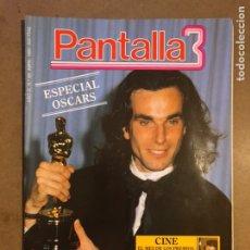 Cine: PANTALLA 3 N° 86 (1990). ESPECIAL OSCARS, DANEL DAY LEWIS, ANDRÉS PAJARES, JACK LEMON,.... Lote 195340425