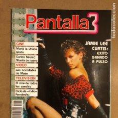 Cine: PANTALLA 3 N° 87 (1990). JAMIE LEE CURTIS, GRETA GARBO MUERTE, CARLOS SAURA,..... Lote 195340485
