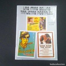 Cine: LAS MAS BELLAS TARJETAS POSTALES-CARTELES DE CINE - T. Lote 195382627