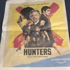Cine: PUBLICIDAD EN PERIÓDICO DE SERIE DE TV 'HUNTERS', CON AL PACINO. AÑO 2020. 2 HOJAS DESPLEGABLES.. Lote 195410343