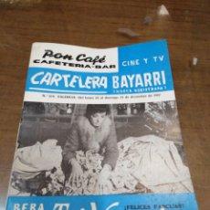 Cine: CARTELERA BAYARRI, PORTADA DE MARIE LAFORET, N-574,AÑOS 1967. Lote 195450377