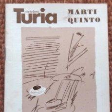 Cine: CARTELERA TURIA Nº 774 - 1978 - MARTI QUINTO. Lote 195457756