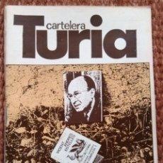 Cine: CARTELERA TURIA Nº 772 - 1978 - VICENT ANDRES ESTELLES. Lote 195457866