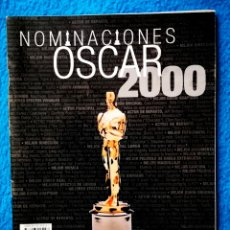 Cine: OSCARS 2000 NOMINACIONES - LIBRETO 64 PAGINAS. Lote 195477911