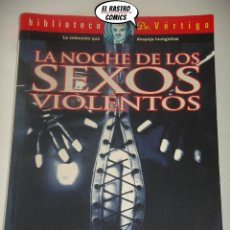 Cine: LA NOCHE DE LOS SEXOS VIOLENTOS, ALEZ ZINEFILO, GLENAT 1999, CINE X, ADULTOS, A9. Lote 195502431