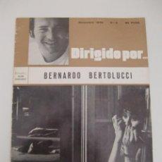 Cine: DIRIGIDO POR BERNARDO BERTOLUCCI / DICIEMBRE 1972 N 3. Lote 195510438