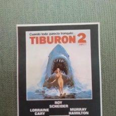 Cine: PROGRAMA DE CINE TIBURON 2. Lote 195703880