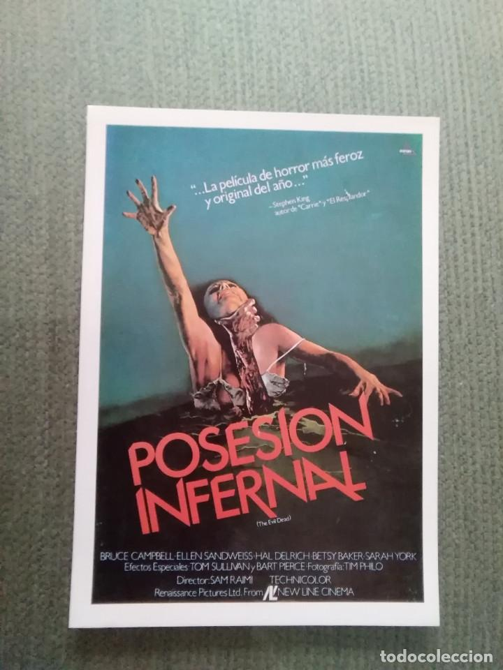 PROGRAMA DE CINE MODERNO POSESION INFERNAL (Cine - Reproducciones de carteles, folletos...)