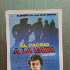 Cine: PROGRAMA DE CINE MODERNO A LA CAZA. Lote 195946126
