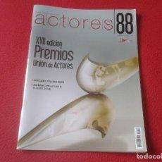 Cine: REVISTA MAGAZINE 88 DE LA UNIÓN ACTORES CINE TEATRO PELÍCULAS...PRIMAVERA 2008 JAVIER BARDEM OSCAR... Lote 196505811
