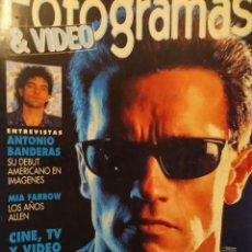 Cinema: FOTOGRAMAS 1780 DIC 1991, ANTONIO BANDERAS,TERMINATOR 2 (POSTER)ARNOLD SCHWARZENEGGER, JAMES CAMERON. Lote 196638338