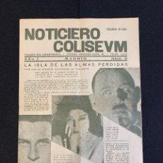 Cine: CINE - LA ISLA DE LAS ALMAS PERDIDAS - NOTICIERO COLISEUM - AÑO 1, N. 6 - 1933. Lote 196750438