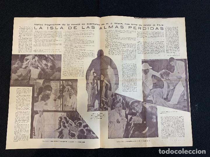Cine: CINE - LA ISLA DE LAS ALMAS PERDIDAS - NOTICIERO COLISEUM - AÑO 1, N. 6 - 1933 - Foto 2 - 196750438