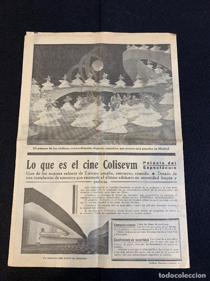 Cine: CINE - VAMPIRESAS 1933 - NOTICIERO COLISEUM - AÑO 1, N. 8 - 1933 - Foto 3 - 196750703