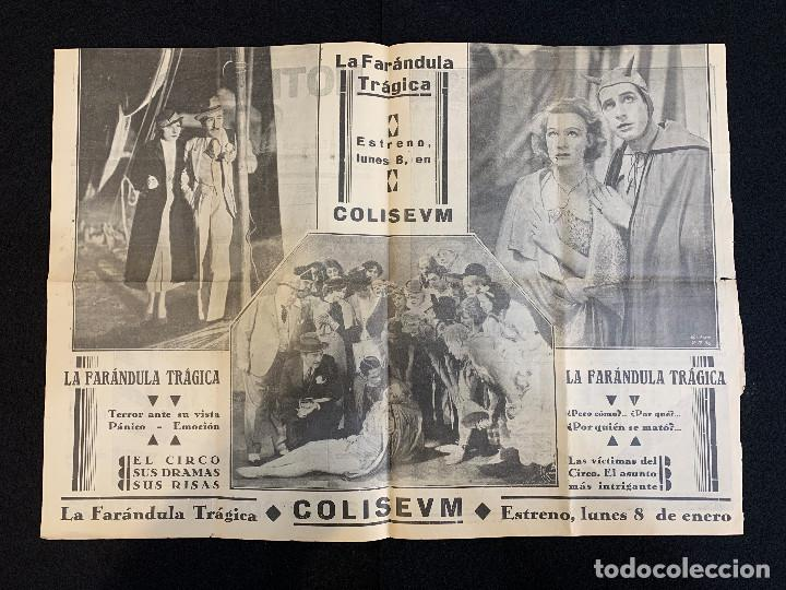 Cine: CINE - LA FARANDULA TRAGICA - NOTICIERO COLISEUM - AÑO 2, N. 10 - 1934 - CIRCO - Foto 2 - 196750982