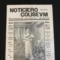 Cine: CINE - YO, TU Y ELLA - NOTICIERO COLISEUM - AÑO 2, N. 11 - 1934. Lote 196751240