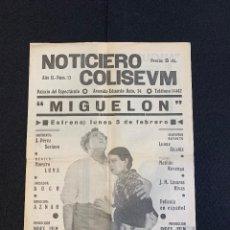Cine: CINE - MIGUEL FLETA - NOTICIERO COLISEUM - AÑO 2, N. 13 - 1934 - OPERA. Lote 196751420