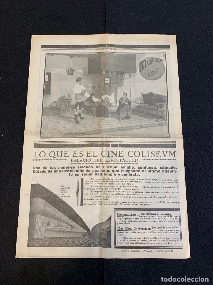 Cine: CINE - MIGUEL FLETA - NOTICIERO COLISEUM - AÑO 2, N. 13 - 1934 - OPERA - Foto 3 - 196751420