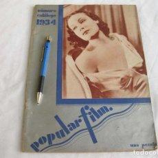 Cine: REVISTA DE CINE POPULAR FILM. NÚMERO CATÁLOGO DE 1934. AÑO IX, Nº 247. Lote 197065391