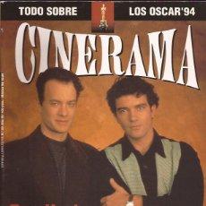 Cine: REIVISTA DE CINE CINERAMA Nº 23 ANTONIO BANDERAS TOM HANKS OSCARS. Lote 197394100