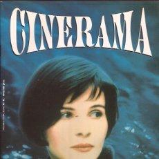 Cine: REVISTA DE CINE CINERAMA Nº 19 JUKIETTE BINOCHE KIESLOWSKI. Lote 197394417