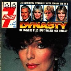 Cine: JOAN COLLINS DINASTIA DYNASTY FRANCE MAGAZINE REVISTA 1983.. Lote 197417793